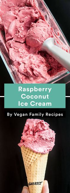 9 Ice Cream Recipes That Don't Require Fancy Equipment – Yummy Eis Mini Desserts, Ice Cream Desserts, Frozen Desserts, Ice Cream Recipes, Frozen Treats, Summer Desserts, Raspberry Ice Cream, Coconut Ice Cream, Vegan Ice Cream