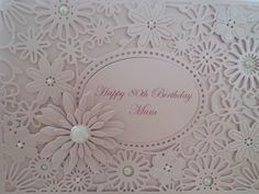 Beautiful handmade personalised cards made from premium quality card. Inside the card is left blank for your own personal message All my cards come cellophane wrapped for protection 100th Birthday Card, Homemade Birthday Cards, Cellophane Wrap, I Card, 30th, My Etsy Shop, Card Making, Messages, Frame