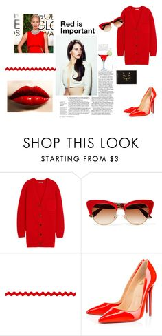 """Red is Important"" by billie-ann-richardson on Polyvore featuring mode, Chloé, Dolce&Gabbana, Christian Louboutin, Charlotte Olympia, red, dolceandgabbana, lips et louboutins"