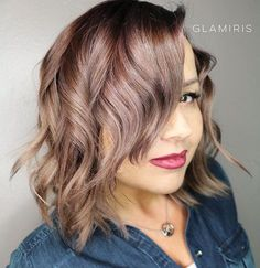 Wavy Bob Hairstyle For Plus Size Women