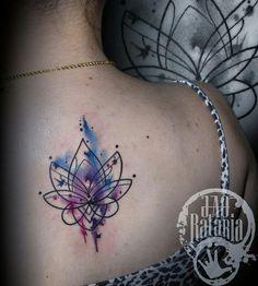Lotus tattoo tatuagem aquarela watercolor ink color: