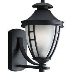 Progress Lighting Fairview 14.5-in H Textured Black Outdoor Wall Light