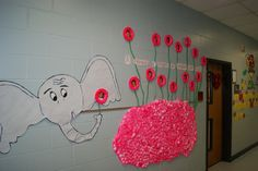 Horton hears a Who!  My co-workers & BFF's wall! Love it - she spray painted the cotton balls! So clever and this quote is just perfect for Kindergarten! ;)