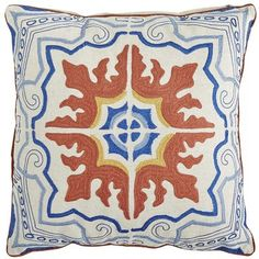 Embroidered Mediterranean Tile Pillow   Pier 1   Get up to 8.6% Cashback when you shop with your DubLi Membership! Not a member? Sign up FOR FREE today! www.downrightdealz.net