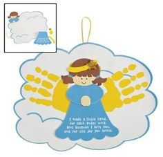 """""""The Reason for the Season"""" Religious Christmas Gifts for Kids:  Angel Handprints Poem Ornament Craft Kit @ Amazon"""
