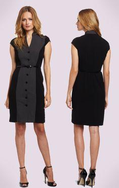 Calvin Klein  Charcoal/Black Work Dress