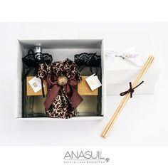 KIT ANASUIL  com home spray da Linha Luxury, aroma stick e difusor cetim onça. http://www.anasuilblog.blogspot.com.br/