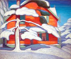 View Pine tree and red house, winter, city painting II by Lawren Harris on artnet. Browse upcoming and past auction lots by Lawren Harris. Tom Thomson, Group Of Seven Artists, Group Of Seven Paintings, Canadian Painters, Canadian Artists, City Painting, Painting & Drawing, Building Painting, Winter Painting