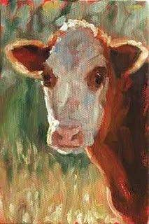 Oh friendly cow all red and white, I love with all my heart. She gives me cream with all her might to eat with apple tart. She wanders lowing here and there and yet she cannot stray, all in the pleasant open air, the pleasant light of day, and blown by all the winds that pass and wet with all the showers, she walks among the meadow grass and eats the meadow flowers. - Rober Louis Stevenson