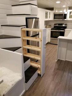 Slide Out Pantry - Hekkert Hideaway by Free2Roam Tiny Homes