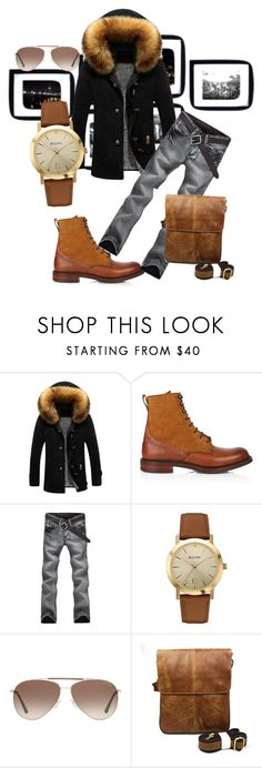"""""""Untitled #417"""" by jesse-cc ❤ liked on Polyvore featuring Joseph Cheaney & Sons, Bulova, Tom Ford, men's fashion and menswear"""