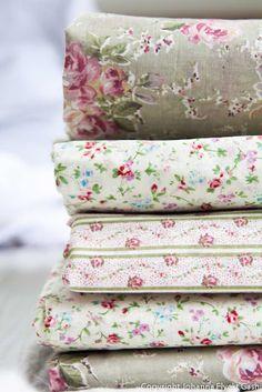 I love these soft old fashioned fabrics.