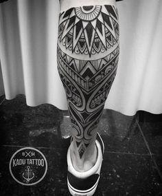Tattoo Ideas — Maori Tribal Leg Tattoo ... #maoritattoosmen #maoritattoosleg