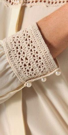 "堆糖-美好生活研究所 ""Beyond Vintage Crochet Yoke Blouse in White Inspiracion ✭Teresa Restegui"", ""Buy Beyond Vintage Women& White Crochet Yoke Blouse, starting at Beau Crochet, Crochet Yoke, Mode Crochet, Crochet Blouse, Crochet Stitches, Crochet Patterns, Diy Crochet Collar, Crochet Fabric, Crochet Bikini"