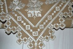 Amazing Hardanger vintage Swedish hand-enbroided tablecloth 60s