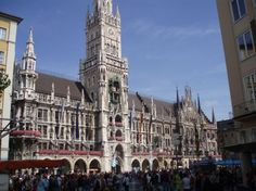 I took a picture of the Glockenspiel (in Munich, Germany) after taking a snapshot at (Dauchau Concentration Camp) of a photo of it draped w/ Hitler's flag.  Really puts history into perspective.