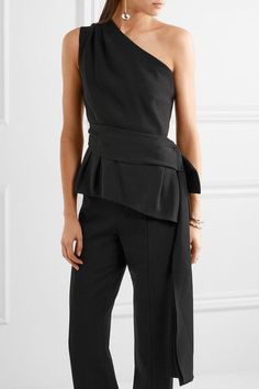 Black silk-blend stretch-jersey  Slips on 70% silk, 26% polyamide, 4% elastane; lining: 93% silk, 7% elastane Dry clean Made in Italy