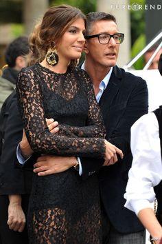 Bianca Brandolini with Stefano Gabbana