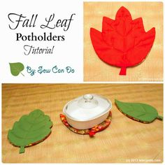 Fall Leaf Potholders & Table Protector Pads