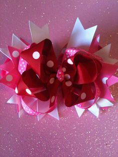 Perfectly valentines hair bow by moniquegregoire on Etsy, $6.00
