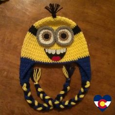 Crochet minion hat from Despicable Me