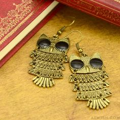 Retro National Owl Earring =>get this cute earring from atwish.com  #fashion #cute #earring  #studs #women #accessories #jewelry