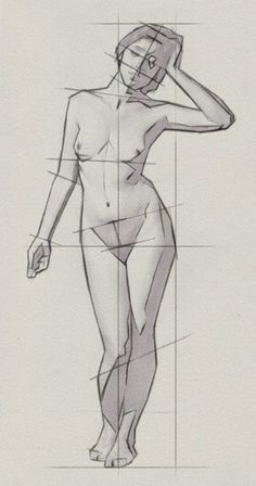 Drawing the Proportions of the Human Body on http://www.artistsnetwork.com