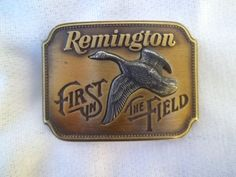 Vintage Remington Brass Belt Buckle by jclairep on Etsy, $22.00