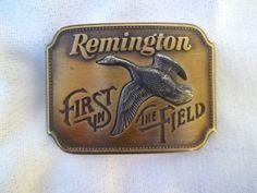 Vintage Remington Brass Belt Buckle by jclairep on Etsy, $22.00