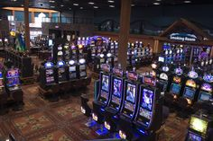 Gaming Floor - 525 Slot Machines Western Canada, Table Games, Slot Machine, Northern Lights, Gaming, Floor, Board Games, Pavement, Videogames