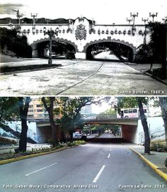 Puente Bolívar (1940's) y Puente La Salle (2013) Foto: Geber Mora / Comparativa: Álvaro Díaz How Beautiful, Beautiful Places, Simple Life Hacks, European History, My Town, Old City, Big Ben, The Good Place, Sidewalk