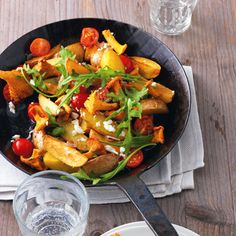 Kartoffelpfanne mit Pilzen Rezept | Küchengötter