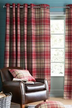 Buy Morcott Woven Check Door Curtain from the Next UK online shop
