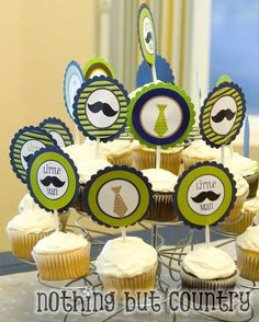 Little man mustache baby shower if you're expecting a boy. This site has some cute ideas!