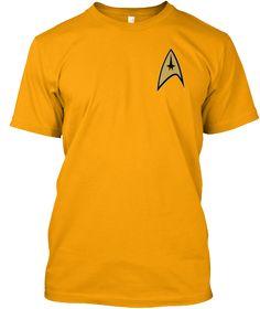 Welcome Trekkies Gold T-Shirt Front