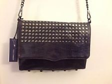 REBBECA MINKOFF Purple Lizard leather CLUTH PURSE SHOULDER BAG NWT STUD
