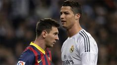 Cristiano Ronaldo sees his rivalry with Lionel Messi as a positive and sees nothing wrong with being compared to the Barcelona attacker. Cr7 Vs Messi, Cristiano Ronaldo Lionel Messi, First Football, Football Soccer, Soccer Drills, Soccer Players, Real Madrid, Santiago Bernabeu, Barcelona