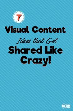 A lot of people struggle with content and yet it's such an easy way to drive more engagement. Here are 7 visual content ideas that get shared like crazy!