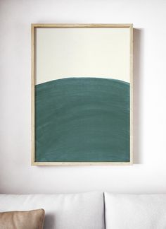 Dark Teal Art Print Teal Painting Simple Painting Teal and