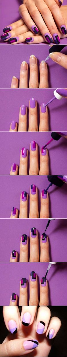 Quick Nail Art Ideas - DIY Colorful Fashion Nails - Easy Step by Step Nail Designs With Tutorials and Instructions - Simple Photos Show You How To Get A Perfect Manicure at Home - Cool Beauty Tips and Tricks for Women and Teens http://diyjoy.com/quick-nail-art-ideas