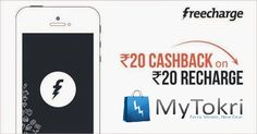 #Freecharge Recharge Offer !! -  Mobile & DTH Recharge - Rs. 20 #Cashback on Rs. 20 Recharge ... Hurry Up