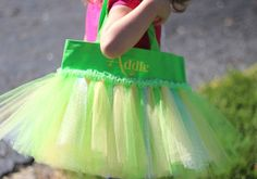 Personalized Tinkerbell Tutu Tote Bag  Valentine's by AddieKatShop, $29.00