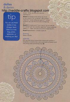 Apliques de Crochet para Prendas - Patrones Crochet