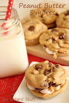 Peanut Butter S'mores Cookies | Six Sisters' Stuff