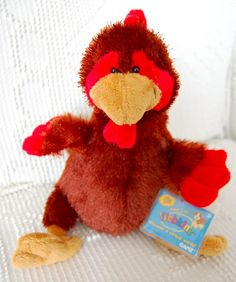 NEW with Original TAGS WEBKINZ Red & Brown ROOSTER Ganz Stuffed Animal CUTE!