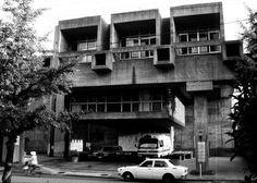 oita prefectural library, oita, kyushu, 1966 arata isozaki