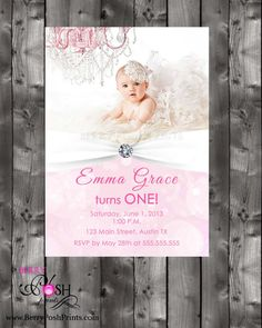 First Birthday Invitation by BerryPoshPrints