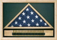 flag in triangle box