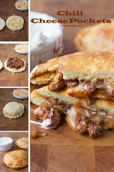 chili cheese pockets for an easy and cheesy dinner that the kids will love! ohsweetbasil.com