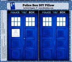 Tardis Pillow Case - DIY pattern - Spoonflower